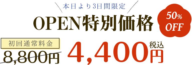 通常料金8800円のところ4400円