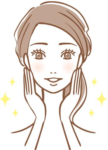肌のきれいな女性